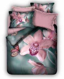 "3D спално бельо ""Орхидея"""