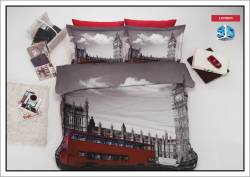 """3D спално бельо """"Лондон"""""""